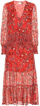 Rixo Maya printed silk-blend midi dress