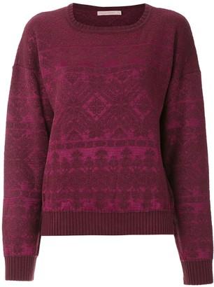 Cecilia Prado geometric pattern knitted jumper