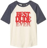 Tiny Whales Best Dude Ever Tee (Toddler/Little Kids/Big Kids) (Natural/Navy) Boy's Clothing