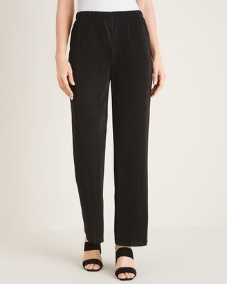 Travelers Collection Micropleat Wide-Leg Pants