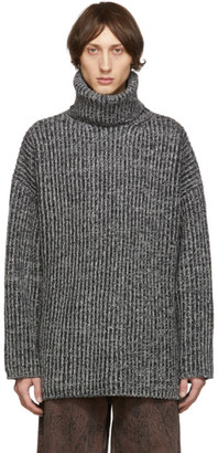 Acne Studios Black and Grey LX2 New Disa Turtleneck