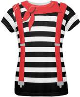 Old Glory Halloween French Mime Costume All Over Womens T Shirt Multi SM