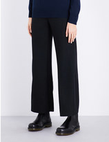 Izzue Wide-leg textured trousers