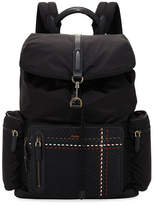 Ermenegildo Zegna Nylon Backpack with Leather Trim