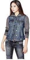 GUESS Women's Leenay Contrast Denim Jacket