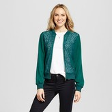Merona Women's Lace Bomber Jacket