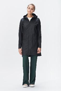 Rains Black 1246 W Coat Women's Rain Jacket - black   XS/S - Black/Black