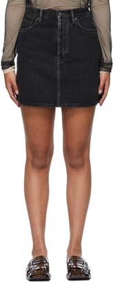 Acne Studios Black Denim Miniskirt