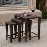 Asstd National Brand Set of 3 Outdoor Wicker Nesting Tables