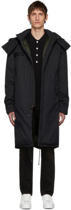 Mr & Mrs Italy Black Cotton Deerskin Coat