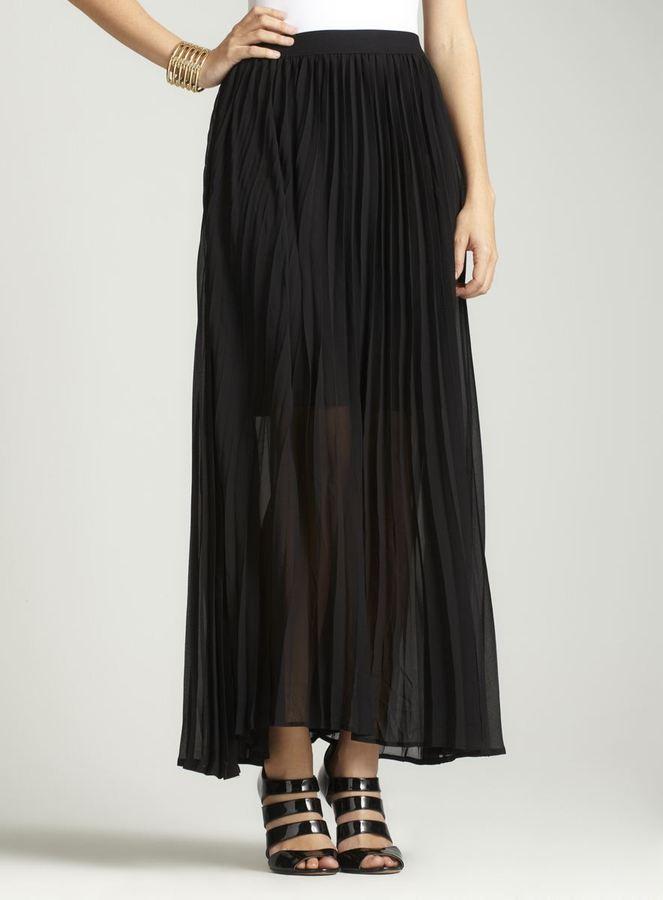Vivienne Tam Pleated Maxi Skirt A