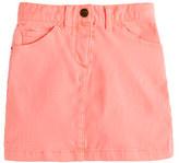 Alldressedup Girls' garment-dyed denim mini