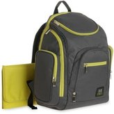 Baby Boom Gray and Green ) Spaces and Places Backpack Diaper Bag by