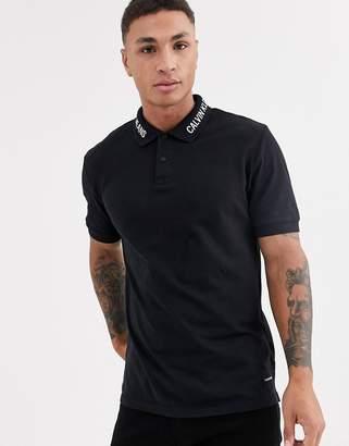 Calvin Klein Jeans embro polo shirt-Black