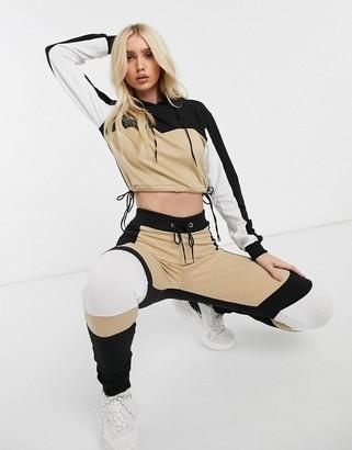 Parisian lounge suit skinny trousers in colour block-Multi