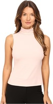 Theory Wendel Ribbed Viscose Sleeveless Turtleneck Top Women's Sleeveless