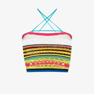 AGR Striped Crazy Knit Crop Top