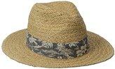 San Diego Hat Company San Diego Hat Co. Men's Straw Panama Fedora Hat with Palm Leaf and Stretch Band