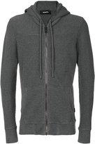 Diesel ribbed zipped hoodie - men - Cotton - S