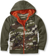 L.L. Bean Boys' Fleece-Lined Camp Hoodie, Colorblock