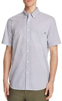 Obey Geometric Print Regular Fit Button-Down Shirt