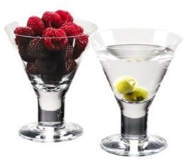 Badash Crystal Caprice Martini Glasses - Set of 4