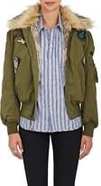 Ottotredici Women's Military-Inspired Cotton-Blend Bomber Jacket