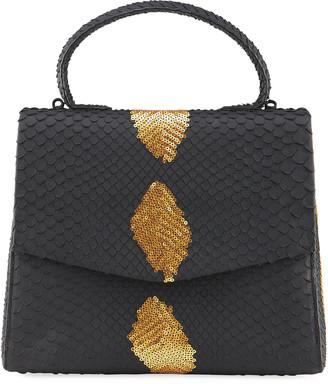 Nancy Gonzalez Lolita Small Python Top Handle Bag
