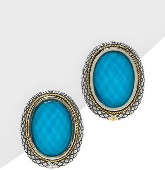 Candela Andrea Ibiza 18K & Silver 21.55 Cttw. Turquoise Earrings