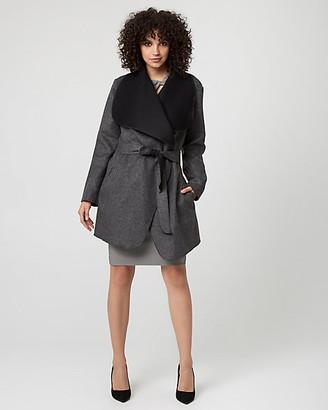 Le Château Italian Wool Blend Wrap Coat
