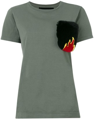 Mr & Mrs Italy fur pocket T-shirt
