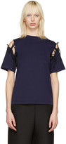 Facetasm Navy Tie Shoulder T-shirt