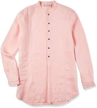 Isle Bay Linens Men's Long Sleeve Henley Mandarin Collar Shirt