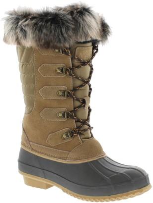Khombu Waterproof Leather Faux Fur Boots - Emily