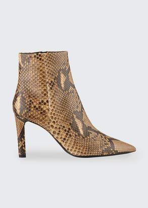 Saint Laurent Kate Python Pointed-Toe Zip Booties