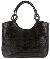 Nancy Gonzalez Crocodile Flap Tote