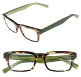 Eyebobs Men's Fare N Square 51Mm Reading Glasses - Green Tortoise
