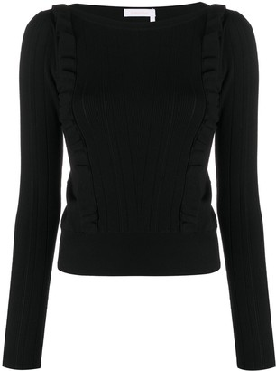 See by Chloe Ruffle Trim Slim Fit Jumper
