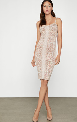 BCBGMAXAZRIA Snakeskin Cocktail Dress