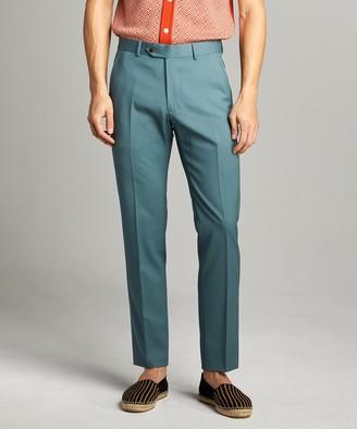 Todd Snyder Black Label Sutton Wool Gabardine Suit Trouser in Aqua