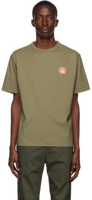 MAISON KITSUNÉ Khaki Flower Fox Patch T-Shirt