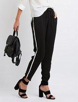 Charlotte Russe Striped-Side Dressy Jogger Pants