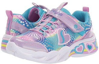 Skechers Sport Lighted - Sweetheart Lights 302059L (Little Kid/Big Kid) (Lavendar/Multi) Girl's Shoes