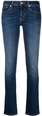 7 For All Mankind Mid-Rise Faded Jeans
