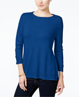 Karen Scott Petite Luxsoft Roll-Neck Sweater, Only at Macy's