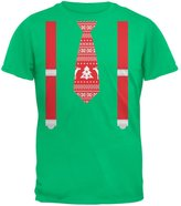 Old Glory Ugly Christmas Sweater Tie With Suspenders Youth T-Shirt