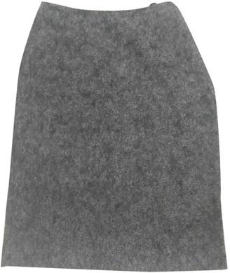 Nicole Farhi Grey Wool Skirt for Women
