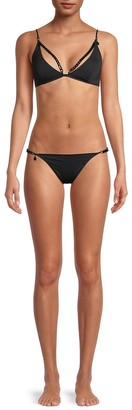 Stella McCartney Swim Chain Padded Triangle Bikini Top