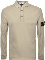 Stone Island Long Sleeved Polo T Shirt Beige