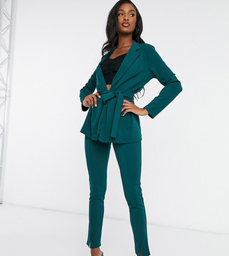 Asos Tall ASOS DESIGN Tall jersey slim suit pants in forest green